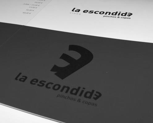 """Diseño de cartas de vinos para """"La Esconida - pinchos & copas"""""""