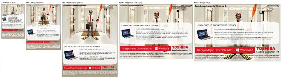 Toshiba web app mobile HTML5 responsive