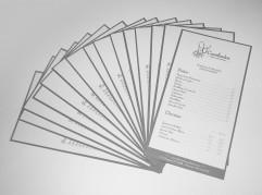 Cambados - Diseño de cartas de restaurante